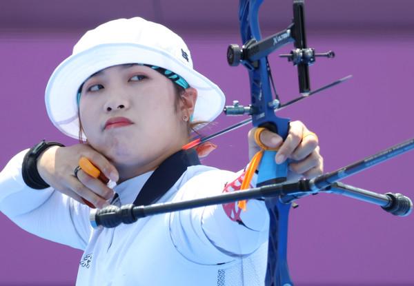 사진= 지난 도쿄올림픽에 출전한 양궁 국가대표 장민희, 연합뉴스