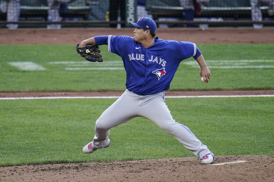 류현진이 팀의 포스트시즌 진출의 명운이 걸린 양키스와의 3연전 첫 경기에 등판한다. [AP= 연합뉴스]